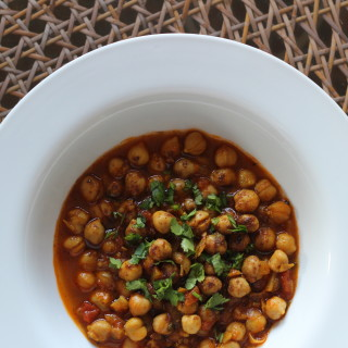 indian curried chickpeas